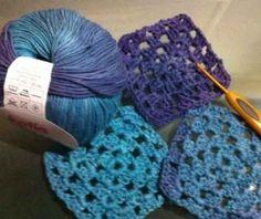 Pola kotak crochet granny square
