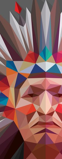 Lowpoly Portraits '14 Collection on Behance