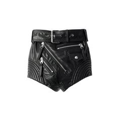 MISS SIXTY LEATHER SHORTS featuring polyvore, women's fashion, clothing, shorts, bottoms, pants, leather, leather shorts, miss sixty and miss sixty shorts