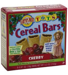 Earth's Best Cherry Tots Cereal Bars (6x8/.67 Oz)