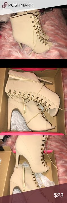 NUDE HEELS Brand new heels from Charlotte Russe   Hello I'm Trina! Welcome to my page.  ❌ not looking for trades  ✅ all my items come from a smoke free home ✅ Reasonable offers welcome😊 Bundle items to save on shipping! Charlotte Russe Shoes Heels