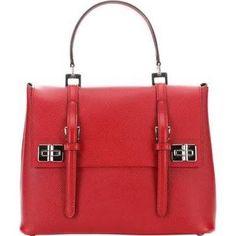Prada Fire Saffiano Leather Top Handle Bag