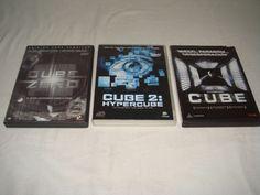 Peliculas en DVD trilogia de CUBE buen estado!