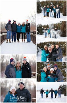 Outdoor Family Photo Ideas & Poses - Winter Session - Snow - Barn - Parents - Teen Kids - Coats - Winter Hats - Billings, MT Family Photographer