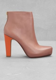 & OTHER STORIES leather ankle boot
