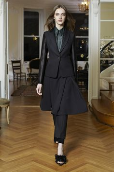 Dressed-up, up-dated vision of skirts over pants  The Row  Fall 2013 RTW