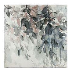 Flora Blue Autumn Canvas
