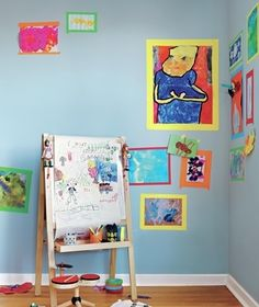 Creating a gallery with colorful tape
