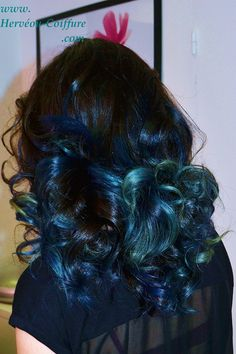 Carr plongeant d grad coloration acajou et effet for Tie and dye prix salon