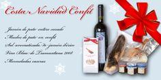 Cesta Navidad Confit. Estas navidades regala una cesta deliciosa con Comprar Foie  http://www.comprarfoie.com/es/producto/Cesta-Navidad-Confit_54.html