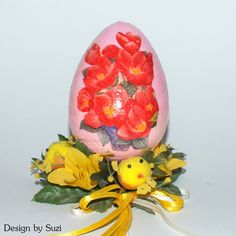 Design by Suzi: Polystyrénové vajíčka My Works, Easter Eggs, Snow Globes, Decoupage, Jar, Spring, Design, Decor, Decoration