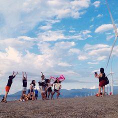 The tourists. #bangui #windmills #vsco #vscocam #vscoph Vsco Cam, Windmills, Instagram Feed, Dolores Park, World, Travel, Viajes, Wind Mills, Windmill