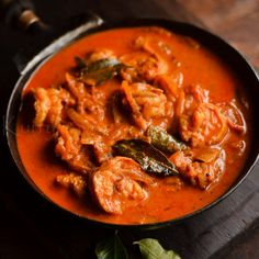 Spicy Prawn Curry - with step by step pictures.