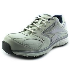 RB440 Reebok Women's Composite Safety Shoes - White * This is an Amazon Affiliate link. You can get additional details at the image link. White Boots, White Leather, Reebok, Safety, Image Link, Oxford, Athletic, Amazon, Sneakers