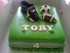 Voetbal en Rugby taart