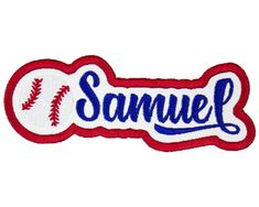 Baseball Name Patch Name Patches, Sew On Patches, Iron On Patches, Bible Covers, In The Heights, Diaper Bag, Just For You, Names, Scrapbook