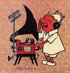 Mr. Magoo on the turntable, well gramophone!
