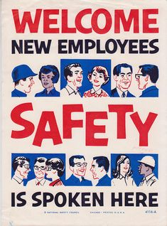 Twenty Retro Health and Safety Posters – Voices of East Anglia Health And Safety Poster, Safety Posters, Office Safety, Workplace Safety, Safety Slogans, National Safety, Construction Safety, Industrial Safety, Pin On