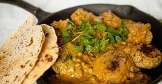 Vegan Chickpea Meatballs in Creamy Curry