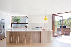 76 Most Popular Dream House Exterior Design Ideas Kitchen Island Bench, Kitchen Benches, Kitchen Islands, Open Plan Kitchen, Interior Design Kitchen, Exterior Design, Home Kitchens, Interior Architecture, House Design