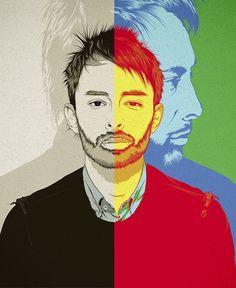 Thom Yorke   RADIOHEAD by CranioDsgn , via Behance