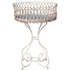 A Wrought Iron Plant Stand/ Jardiniere Victorian Period. | From a unique collection of antique and modern planters and jardinieres at http://www.1stdibs.com/furniture/building-garden/planters-jardinieres/