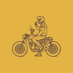 Café Racer line work hand drawn illustration drawing badge patch logo branding motorbike bike coffee cafe racer Bike Tattoos, Motorcycle Tattoos, Motorcycle Logo, Motorcycle Dealers, Women Motorcycle, Logo Branding, Logo Café, Illustration Inspiration, Bike Illustration