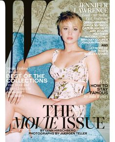 Best Performances February 2014: See All 6 W Magazine Covers - Jennifer Lawrence photographed by Juergen Teller.
