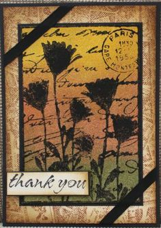 Darkroom Door Pressed Flower Collage Stamp and coloured with Viva Décor 3D Stamp Paint