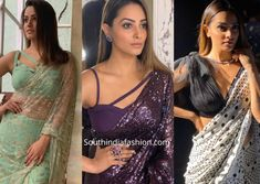 Featruing Anita Hassanandani blouse patterns that are drool-worthy. Shagun Blouse Designs, Blouse Neck Designs, Blouse Patterns, Saree Styles, Blouse Styles, Lace Dress Styles, Stylish Blouse Design, Stylish Sarees, Latest Designer Sarees
