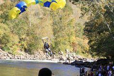 BASE jump landing at #bridgeday