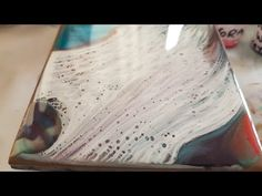 Resin on tile coasters / easy for begginers/ Cells, lacing and ripple effect - YouTube