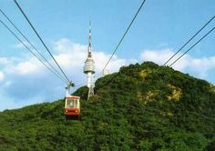 ride the cable car to Namsan