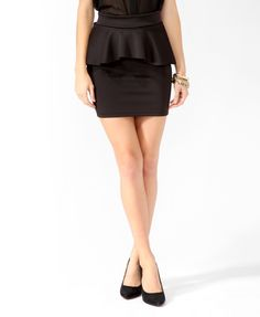 $15.80 i need cheap skirts until i'm finished losing weight! Peplum Bodycon Skirt | FOREVER21 - 2019572938