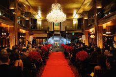 Ceremony set-up- Vintage, elegant Downtown Los Angeles Wedding ~ Cicada Club Wedding- Ace Events LA