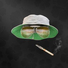 """""""Guess who?"""" Raoul Duke from Fear and Loathing in Las Vegas. Hat from turbosquid, rest modeled in NX. Rendered in Keyshot. Fear And Loathing, 3d Visualization, Duke, Las Vegas, Rest, Model, Image, Mathematical Model"""