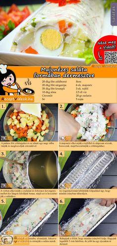 A majonézes saláta formában dermesztve nagyon egyszerű, kiadós és mutatós étel, mely magában is megállja a helyét! A Majonézes saláta formában dermesztve recept videóját a kártyán levő QR kód segítségével bármikor megtalálod! :) #MajonézesSaláta #FormábanDermesztve #Majonézes #Saláta #ReceptVideók #Recept #Húsvét #HúsvétiReceptek #HúsvétiÉtelek #HúsvétiDesszert #ReceptVideó #HúsvétiDIYÉtelek #HúsvétiKreatívÉtelek