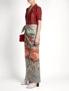 Click here to buy Stella Jean Odiosa Japanese-floral print maxi skirt at MATCHESFASHION.COM