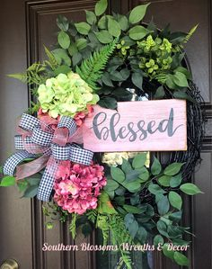 Beautiful grapevine wreath from Southern Blossom Wreaths on Etsy Diy Wreath, Grapevine Wreath, Wreath Making, Wreath Ideas, Easter Wreaths, Holiday Wreaths, Wicca, Summer Wreath, Spring Wreaths
