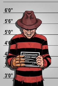 A Nightmare on Elm Street, Freddy Krueger Mugshot