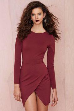 Vestito con gonna a portafoglio #marsala #moda #fashion