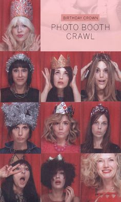 DIY birthday crowns / photo booth
