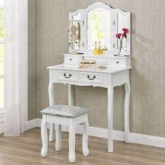 Cele mai ieftine măsuțe de toaletă   FAVI.ro My New Room, My Room, Make Up Tisch, Makeup Dressing Table, Dressing Tables, Makeup Desk, Bedroom Inspo, Girls Bedroom, New Homes