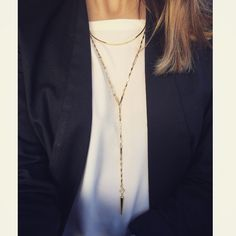 Love my layering today! Bianca Lariat Necklace ($59), that can be worn 2 different ways, paired with my Crescent Necklace ($49) up top. Get yours at www.stelladot.com/ashleykoekkoek #sdjoy #stelladotstyle @stelladot #stelladot