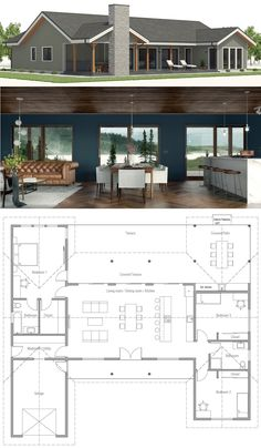 Small House Plans, Small Home, New Home … - Container house Barn House Plans, New House Plans, Dream House Plans, Small House Plans, House Floor Plans, Cottage House Plans, Cottage Homes, Casas Containers, Container House Plans
