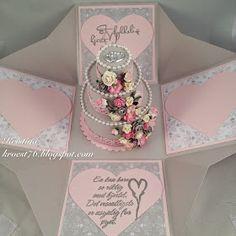 Eksplosjonsboks bryllup, North Star Design, North Star Stamps