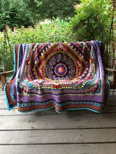 Crochet Afghan Patterns Ravelry: Project Gallery for Sophie's Universe CAL pattern by Dedri Uys - Boho Crochet Patterns, Crochet Mandala Pattern, Crochet Squares, Knitting Patterns, Granny Squares, Crochet Designs, Baby Patterns, Sewing Patterns, Beau Crochet