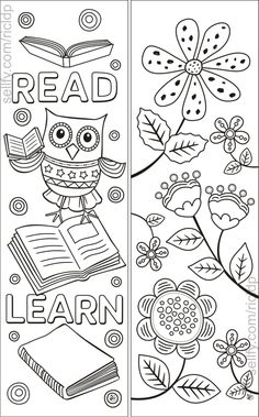 Here's a set of simple yet beautiful coloring bookmarks that would appeal to both kids and adults. Cat Coloring Page, Colouring Pages, Printable Coloring Pages, Coloring Sheets, Coloring Books, Free Printable Bookmarks, Bookmarks Kids, Bookmark Template, Crochet Bookmarks