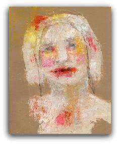 Self Identification  Original Painting  Textured Portrait Painting by ChristinaRomeo, $95.00