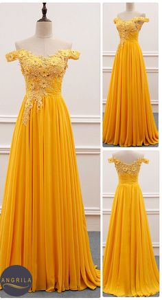 Ball dresses - Princess Chiffon FloorLength OfftheShoulder Long Prom Dresses with Appliques Lace – Ball dresses Hoco Dresses, Ball Dresses, Pretty Dresses, Homecoming Dresses, Strapless Dress Formal, Beautiful Dresses, Evening Dresses, Casual Dresses, Dress Outfits